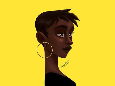 Black girl portrait woman portrait black woman portrait girl art character design woman illustration art drawing character illustration