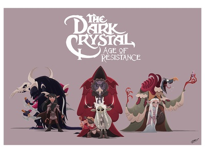 DARK CRYSTAL characters art series movie netflix dark fantasy illustration art fantasy dark crystal fan art fanart character character design illustration drawing