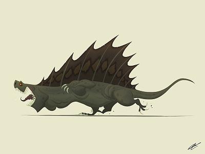 DIMETRODON digital art digital illustration art dessin reptile dinosaurus dinosaur dinos character design illustration art character illustration drawing