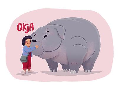 OKJA netflix movie character movie art movie fanart animals drawing illustration