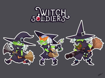 Witch soldiers drawing illustration art illustration fantasy witches sorceress character design characterdesign characters character art soldiers witch