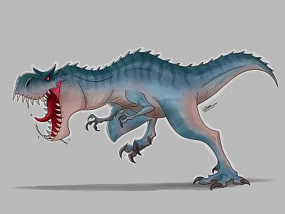 Hungry Dino digital drawing digital illustration illustration art character drawing animal animals design illustration carnotaurus carnosaurus dinosaurs dinosaurus dinos dinosaur
