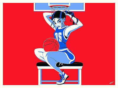 BASKETBALL GIRL fashion design woman character drawing illustration art sport girl art design fashion illustration sport girl illustration illustration fashion girl basketball