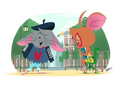 FRENCH MOUSES illustration art childrens illustration childrens book art french character design animals character illustration drawing animal mouse