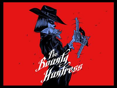 THE BOUNTY HUNTRESS illustration art art design character illustration drawing woman girl cowgirl western wild west huntress bounty huntress cowboy bounty hunter