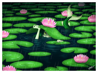 SWAMP MERMAID woman lake water fantasy mythology character design art illustration art character drawing illustration mermaid swamp