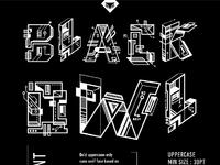 Font poster blackowl