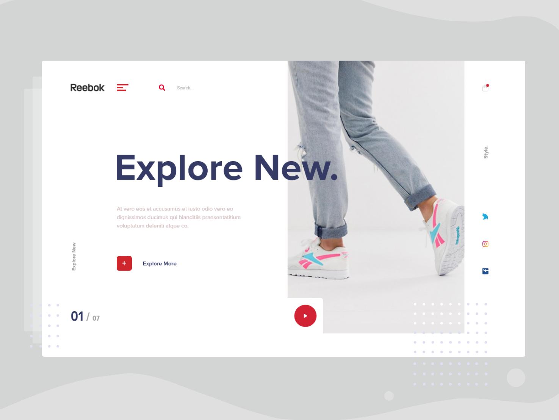Study-1 @daily-ui ecommerce web ui design