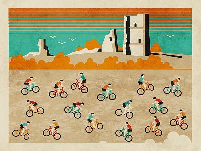 Bike Crazy poster essex castle hadleigh cycling bike
