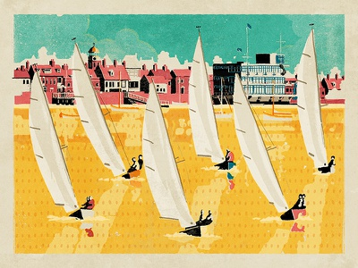 Sailing on the River burnham-on-crouch river sailing boats poster essex