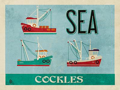 Cockle Boats sea boat trawler fishing cockles