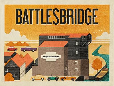 Battlesbridge fendell posters england essex antiques antique mill battlesbridge