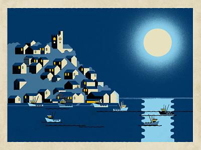 Leigh-on-Sea by Moonlight neil fendell fendell posters moonlight essex leigh-on-sea leigh
