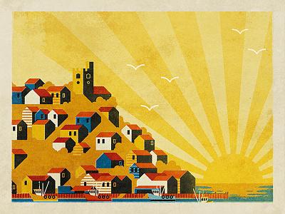 Legra Sunrise sunrise town river beach leigh-on-sea essex neil fendell fendell posters