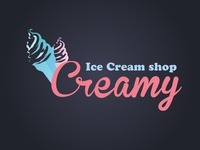 Creamy Ice cream Logo Idea