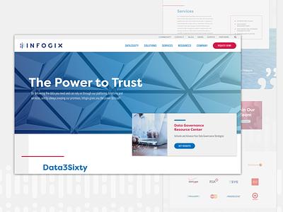 Infogix Website branding custom wordpress wordpress ux web design web website design ui
