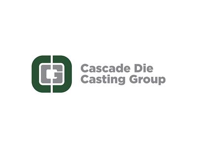 Cascade Die Casting Group Rebrand manufacturing corporate identity brand identity automotive casting typography icon logo michigan branding brand