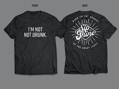 Sip Shine | Swag tshirts shirt mockup shirt design design swag tshirt design tshirt gear branding brand michigan