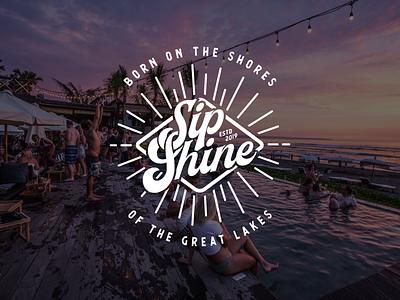 Sip Shine moonshine alcohol alcohol branding typography design logo branding brand michigan