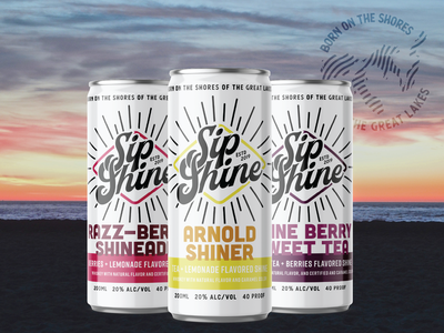 Sip Shine | Can Design sip michigan alcohol packaging cans can design can alcohol branding moonshine branding brand