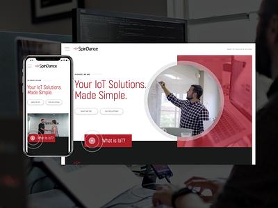 SpinDance  |  Website michigan iot development iot technology custom wordpress web design wordpress ui web ux website