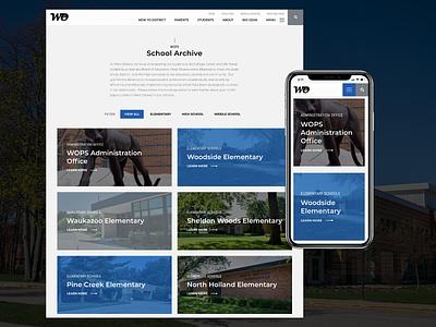 West Ottawa Public Schools  |  Website custom wordpress web ux education website school schools educational education wordpress ui web design website michigan