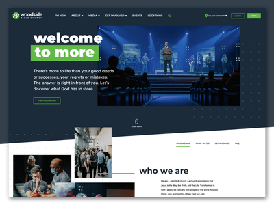 Woodside Bible Church | Website custom wordpress wordpress ui design ux design church website church design church web design ui ux website web
