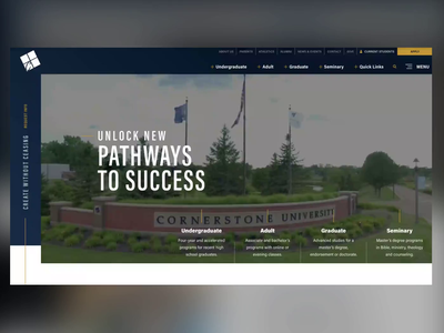 Cornerstone University | Website michigan university website college website college university education website education web design ui ux design website web