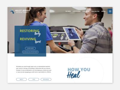 Hulst Jepsen physical therapy michigan wordpress ui web design website web
