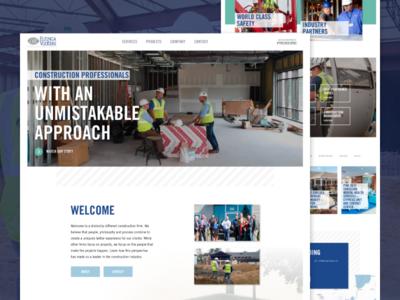 Elzinga & Volkers construction custom wordpress ux michigan wordpress ui web design website web