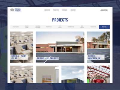 Elzinga & Volkers | Project Archive gallery archive construction custom wordpress ux michigan wordpress ui web design website web