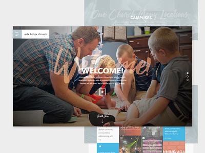 Ada Bible Church | Original Concept concept church michigan grand rapids redesign web design wordpress ui website web