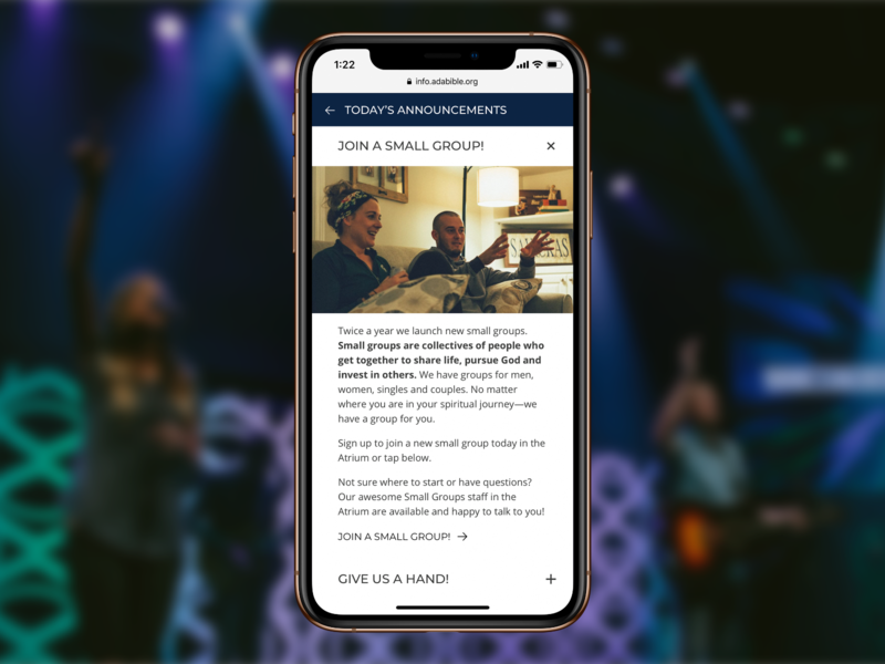 Ada Bible Church Digital Bulletin by Travis Fahlen on Dribbble