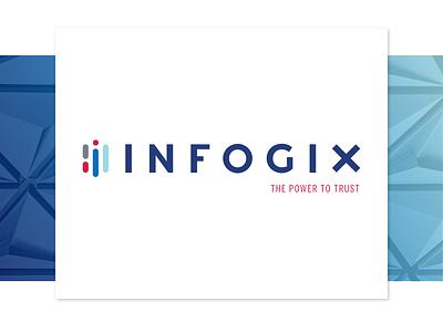 Infogix data analysis data analytics enterprise software enterprise data design branding logo brand
