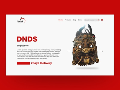 Webpage Design - DNDS singing bowl