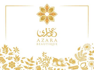 Azara Beautique Branding skin care soap luxury illustration logo branding