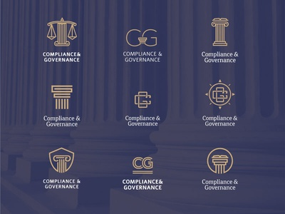 C&G logo design options legal high end logo brand branding formal governance compliance corporate law