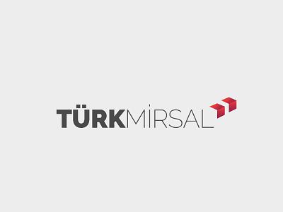 Turk Mirsal Logo arrow box shipment branding brand logo turkish delivery shipping turkey