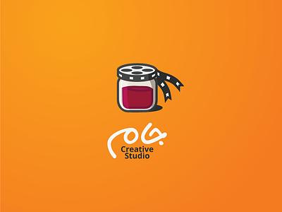 Jam logo creative studio video jar jam logo agency film media studio