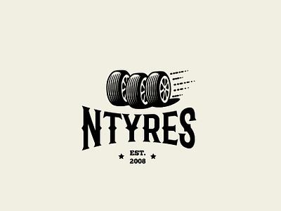 Ntyres logo 3 tyre logo cars car tyres tyre brand branding logo