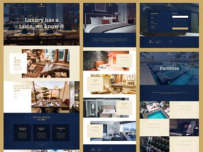 La Capitale - Hotel website adobe xd hotel design ux ui adobe