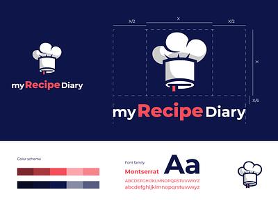 My Recipe Diary logo concept creative vector logo design color illustration adobe adobe illustrator icon branding