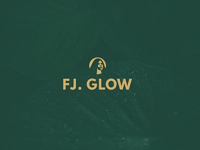 FJ. GLOW Logo design icon minimal color creative design branding art adobe illustrator logo adobe