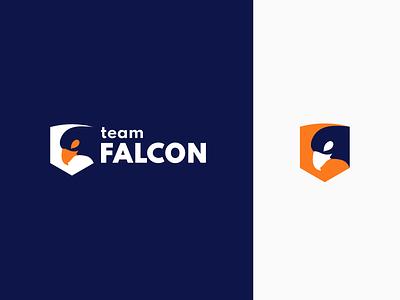 Team falcon logo design icon illustrator cc color branding adobe illustrator logo adobe