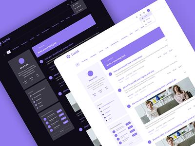 Lucid blog timeline redesign user interface design user interface simple neat concept redesign blog vector color ui ux adobe design