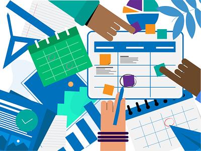 Task management illustration illustrator vector creative illustrator cc color art adobe adobe illustrator design