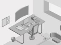 A designer's room
