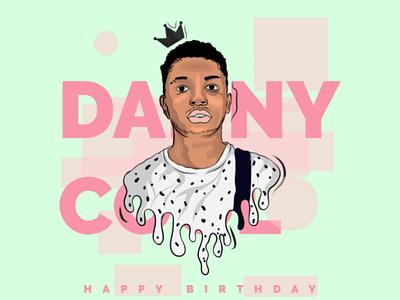 Digital illustration birthday cartoon character adobe illustration