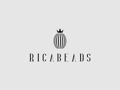 Ricabeads icon logotype logodesign art design illustration branding logo adobe