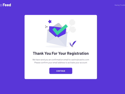Confirmation page mail registration form saas casino thanks sign up registration thank you confirmation